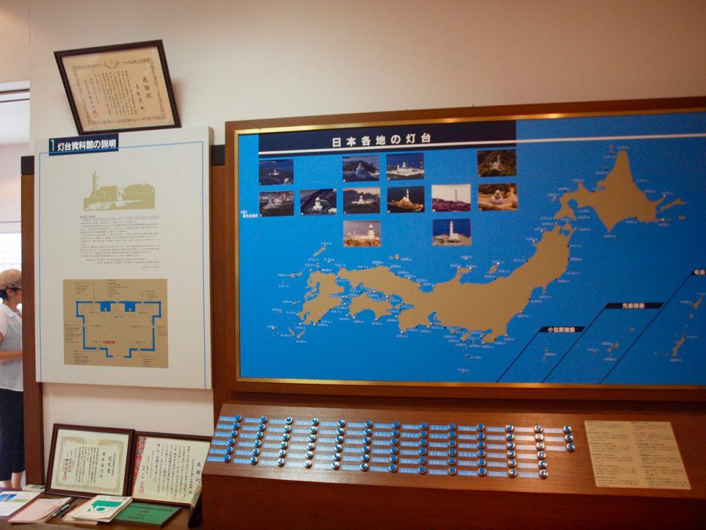 日本の灯台マップ。