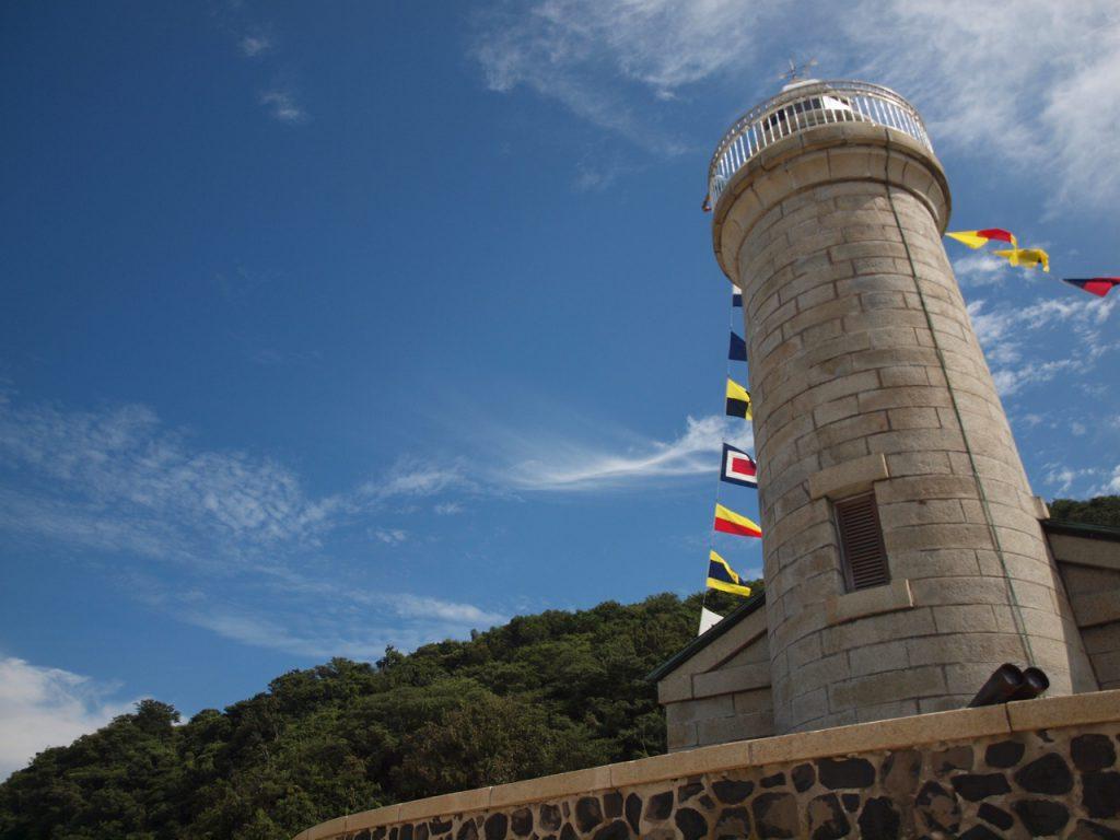 男木島灯台を北側から見たところ。