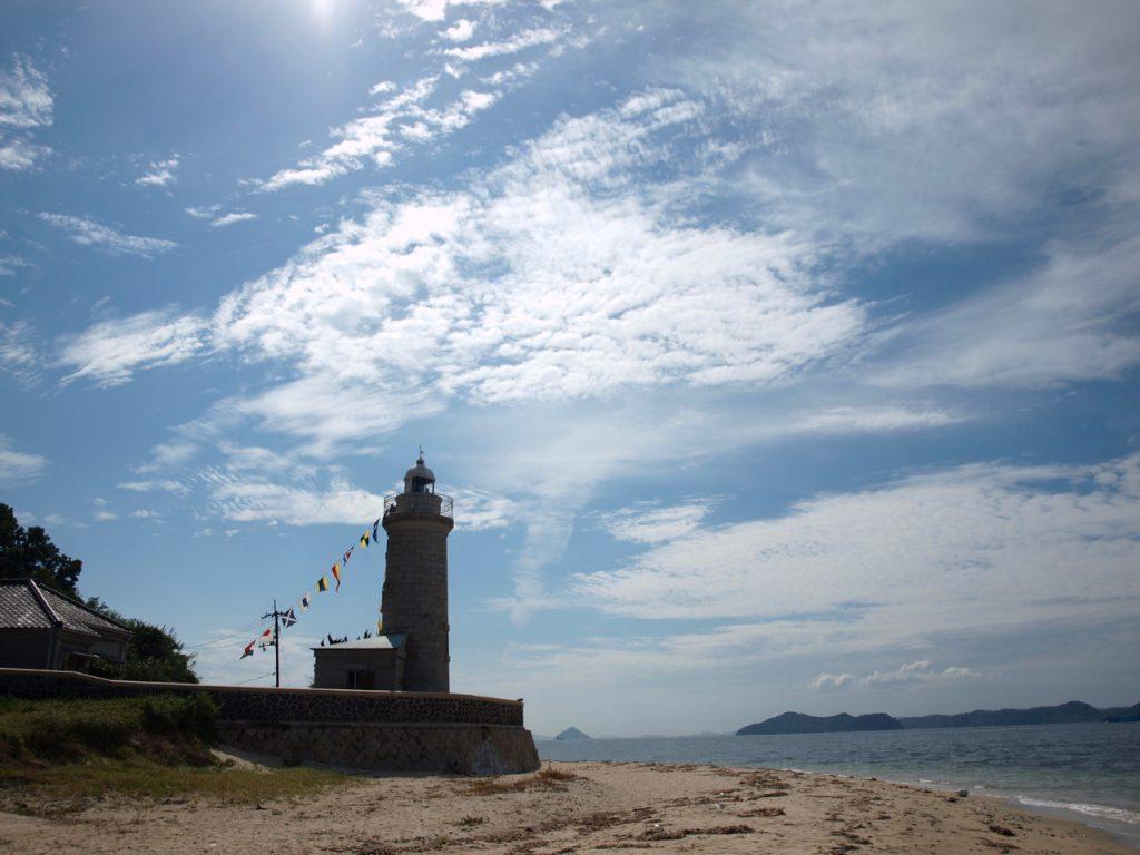 男木島灯台を北東側から見たところ