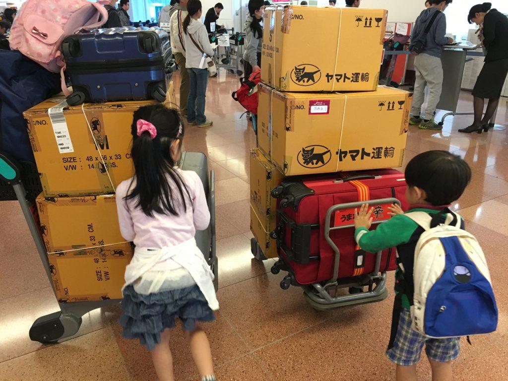 羽田を経由して、高松空港へそのまま行き、
