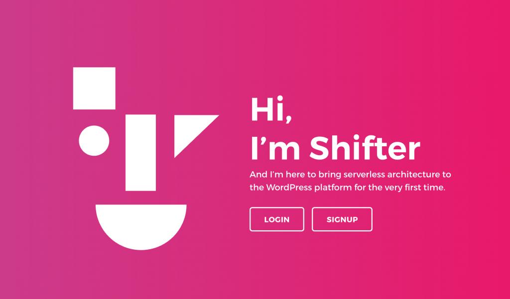 Shifter のウェブサイト