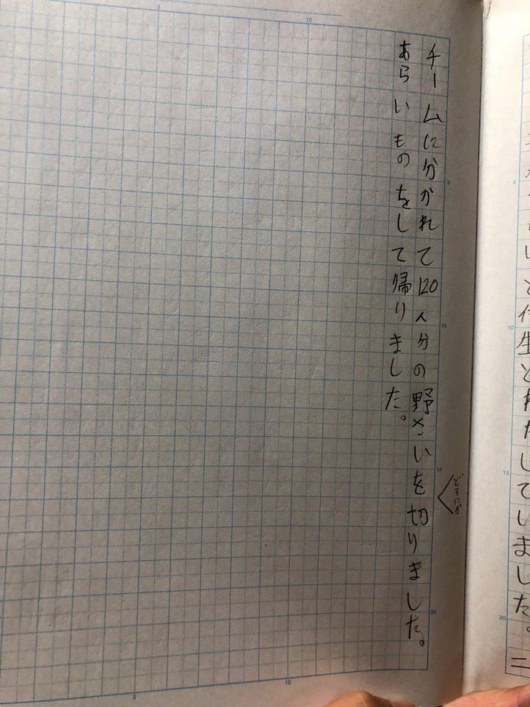 優花が書いた日記の3ページめ。